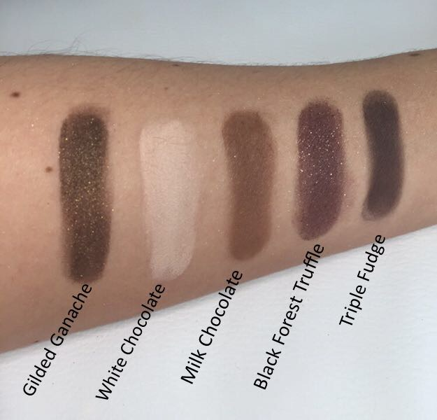 Too Faced Chocolate Bar Eyeshadow Palette Top Row