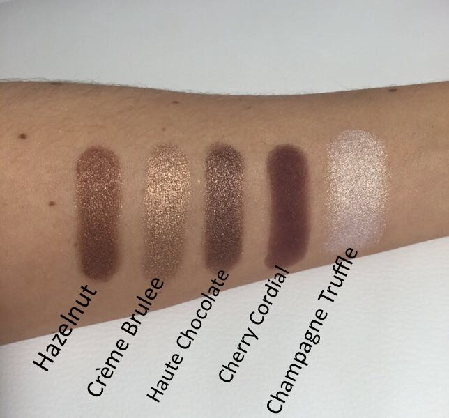 Too Faced Chocolate Bar Eyeshadow Palette Bottom Row