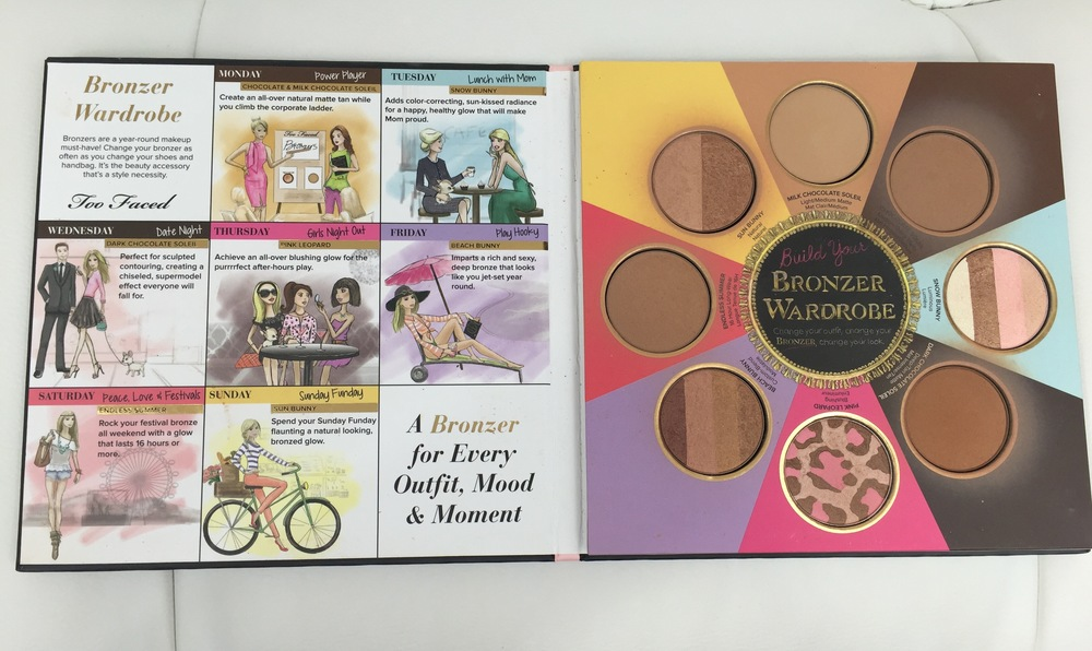 Too Faced The Little Black Book of Bronzers - Inside