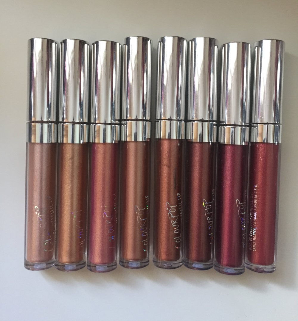 Colourpop Ultra Metallic Lipsticks in JIC, Lights Out, Flitter, Salt, Maneater, Zebra, 3-Way & Kween