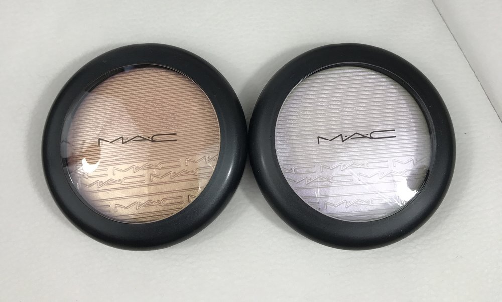 MAC Extra Dimension Skinfinish In Beaming Blush & Soft Frost