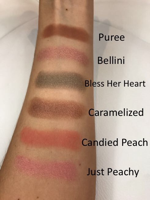Too Faced Sweet Peach Palette Swatches Middle 6
