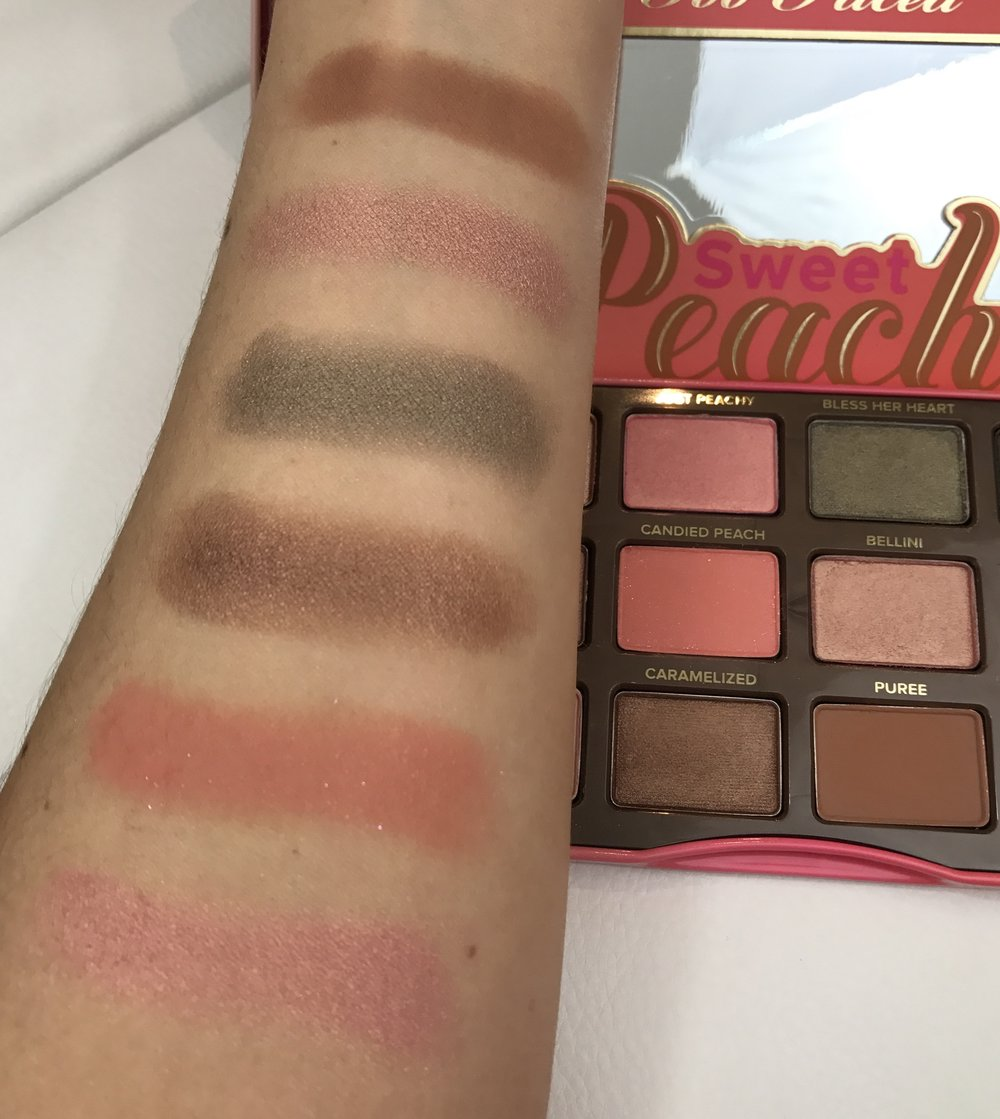 Too Faced Sweet Peach Palette Second 6 + Swatches