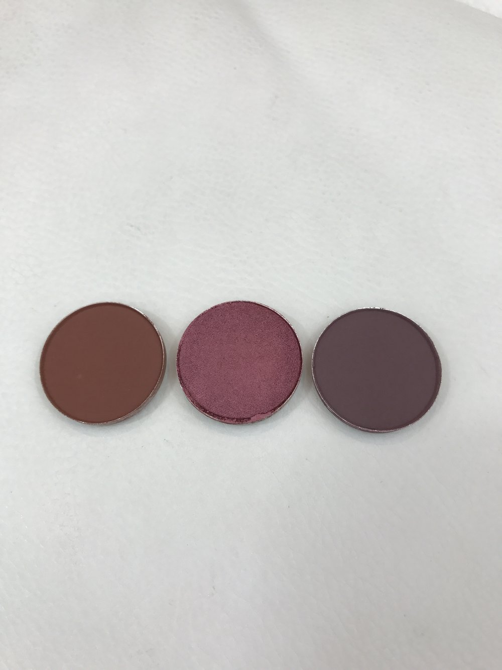 MAC Eyeshadows Swiss Chocolate, Cranberry & Blackberry