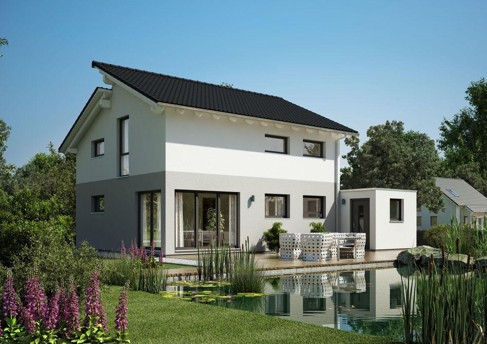 Beispiel Familienhaus mit Pultdach im Victoriaviertel