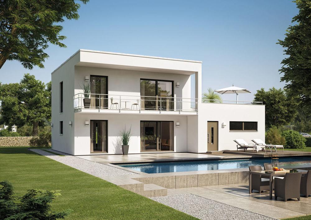 Beispiel für eine Bauhausvilla im Corbusier-Quartier