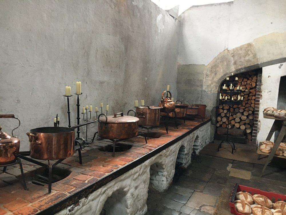 - Today we can explore the kitchens to get a feel for how the food was prepared and how the kitchen staff worked to produce such vast quantities of food.