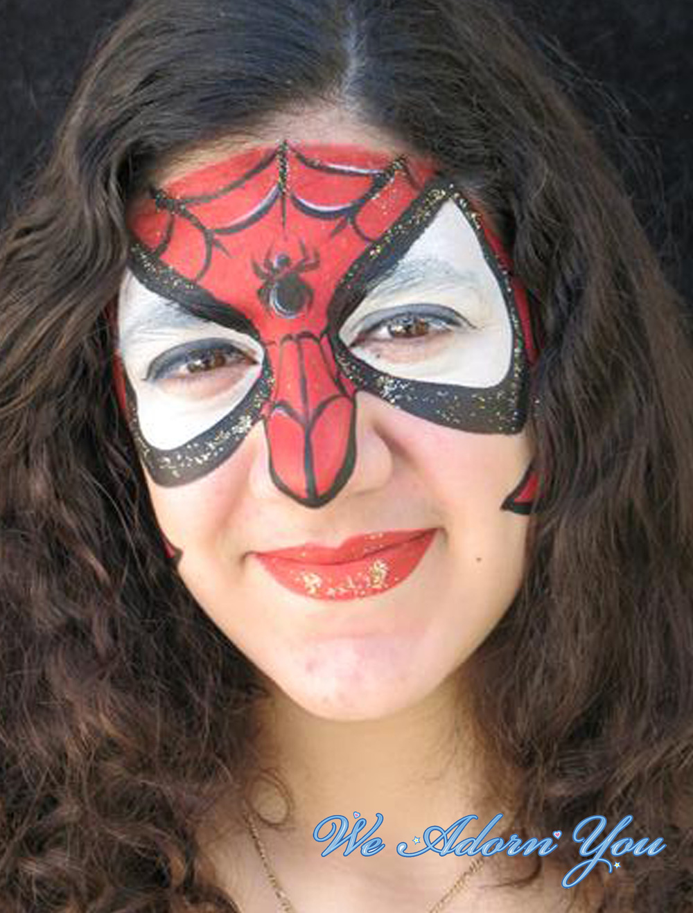 Face Painting SpiderGirl- We Adorn You.jpg