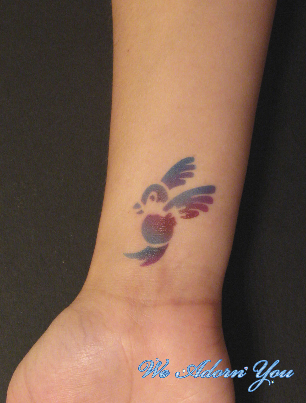 Airbrush Tattoo Humming Bird- We Adorn You.jpg
