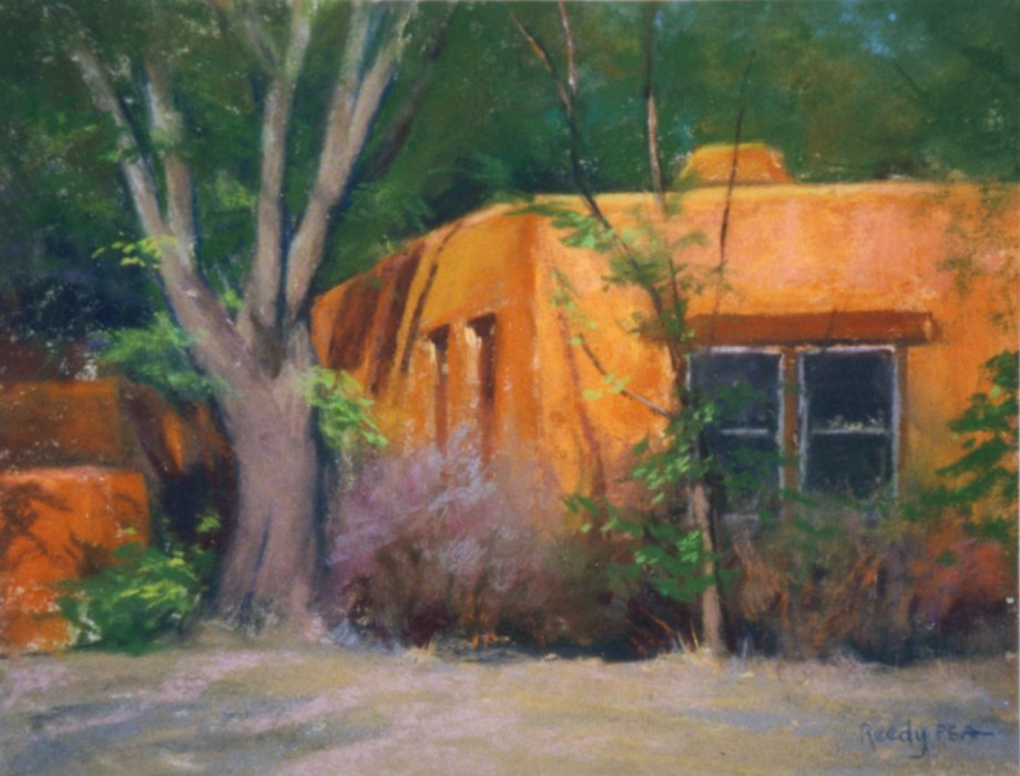 "Secluded Studio - 10.5"" x 13"" Pastel"