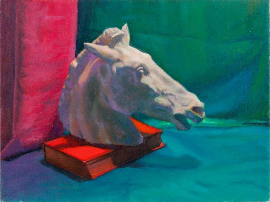 "Nature Morte a la Tete de Cheval - 12""x16"" Oil on Linen"