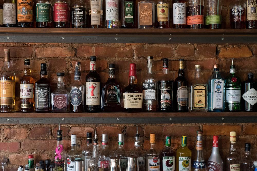whiskey library at bourbon adams morgan