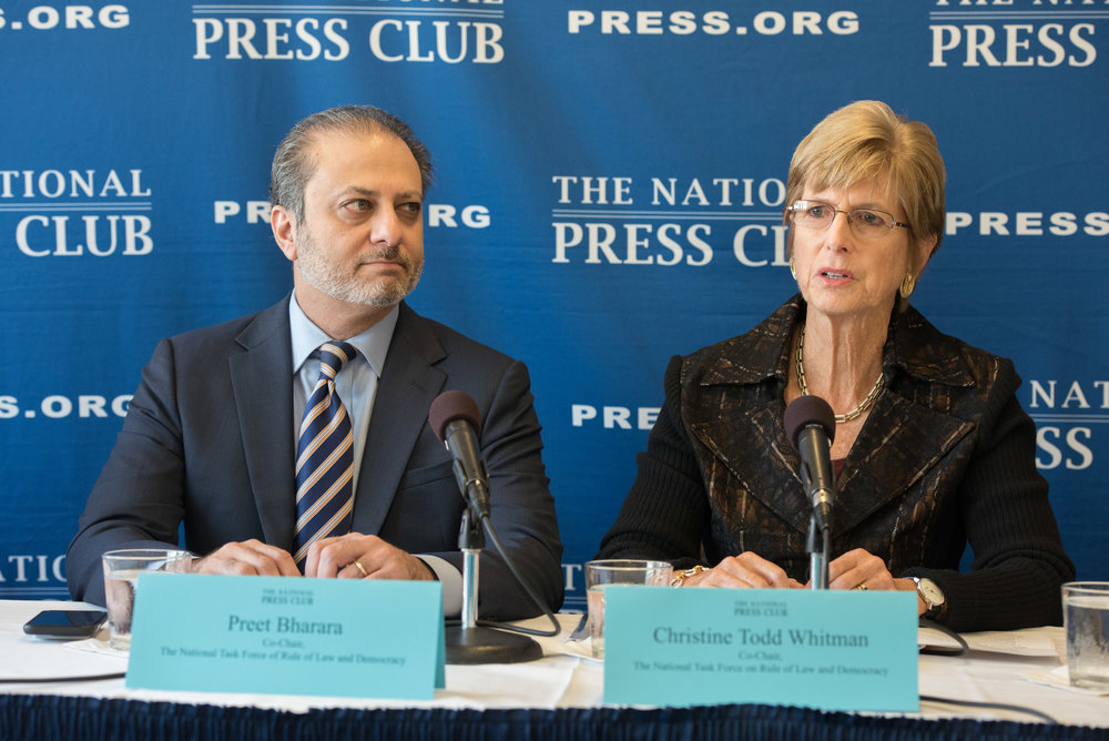 Nat Press Club - Brennan 10-2-2018 event photography christine todd whitman preet bharara