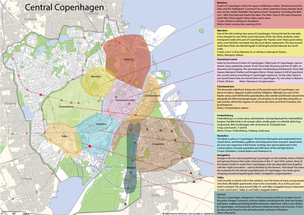 Please feel free to use this map. It shows the different parts of Copenhagen. You can click on the picture in order to read the text.