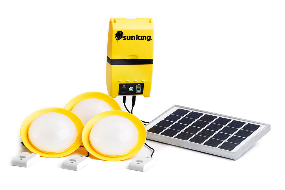 We sell Solar Home systems and Solar lights that charge phones and can charge the MimiMoto stoves.