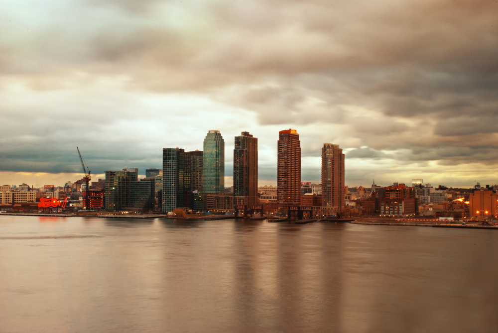 New York. View of Long Island City from Kips Bay, Manhattan.
