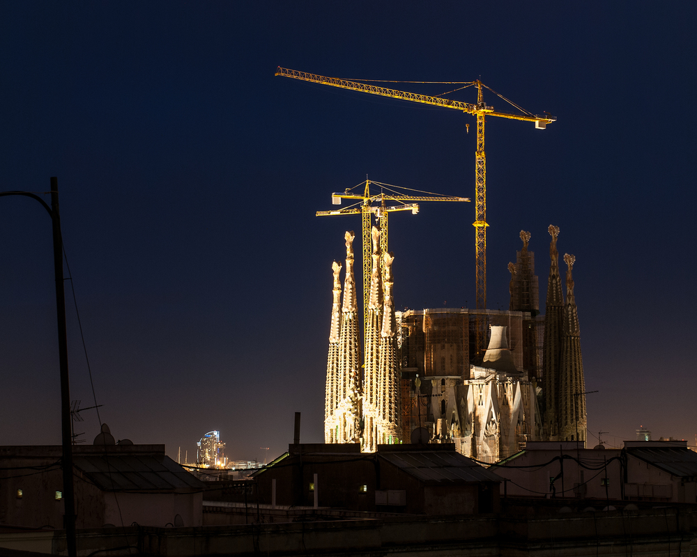 Barcelona. View of the Sagrada Família cathedral.
