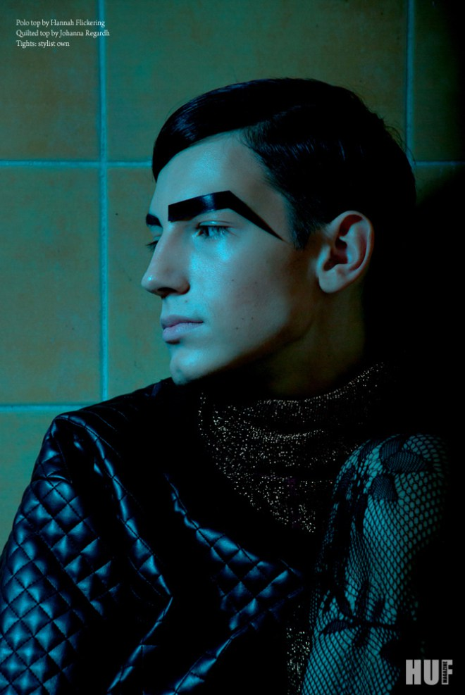 HUF MAGAZINE  Menswear fashion editorial based on separation, loneliness, shape, texture and contrasting styling, published on the online version of HUF Magazine.