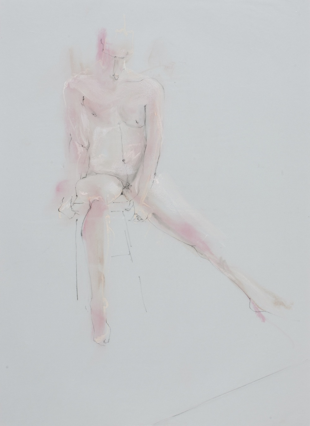 Seated Pink Figure