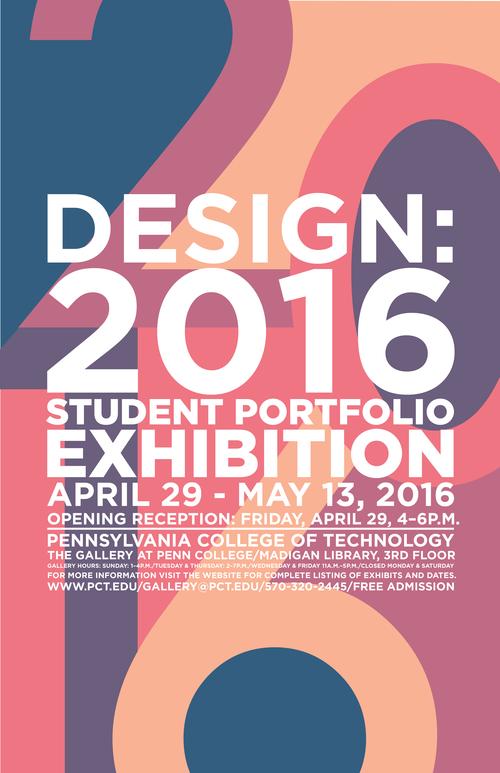 Design 2016 Student Portfolio Exhibition Poster
