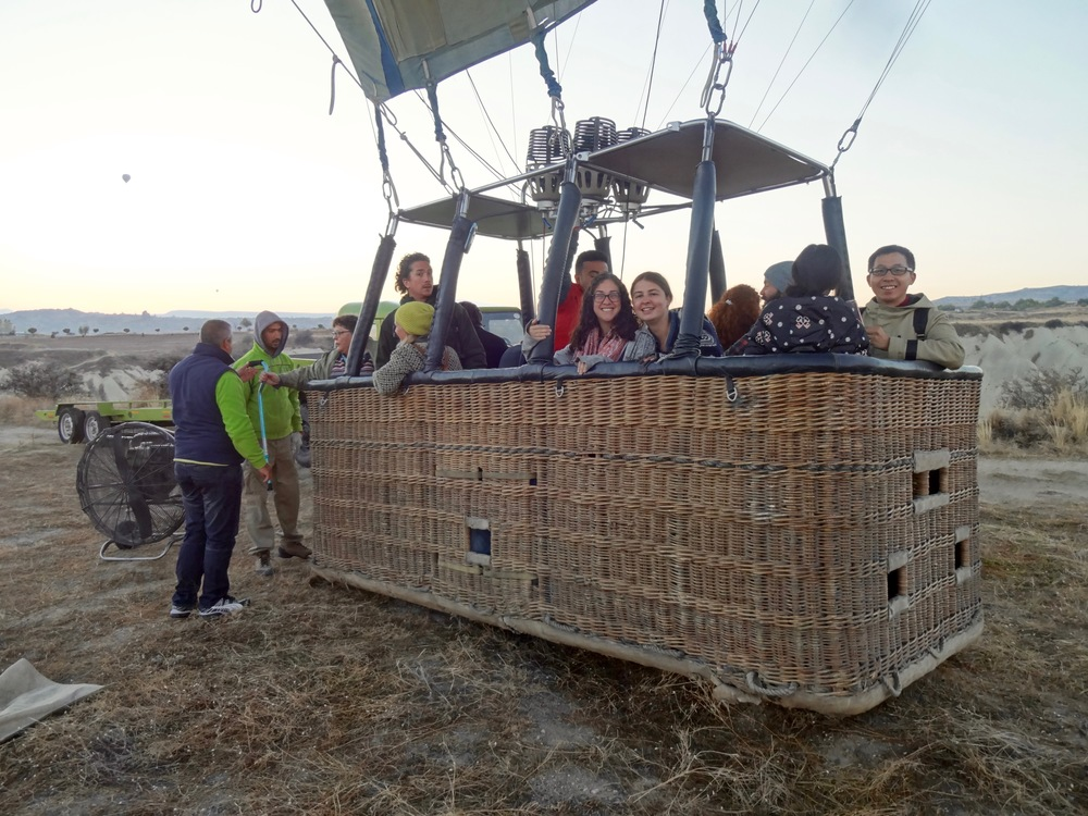 we were very smart  to budget this splurge... hot air BALLOONING in cappadocia, turkey