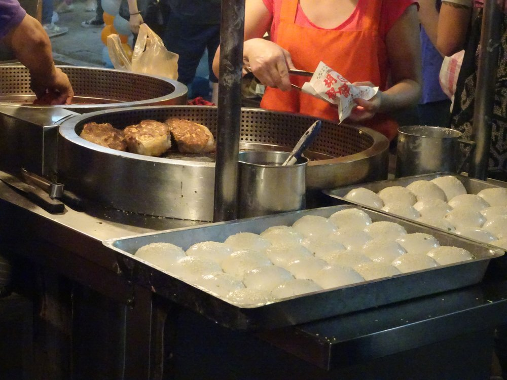 Hujiao Bing at the Raohe Night Market in Taipei, Taiwan - M.Quigley