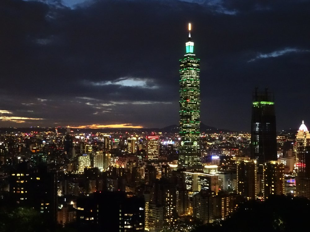 view of taipei, taiwan from elephant mountain - m.quigley