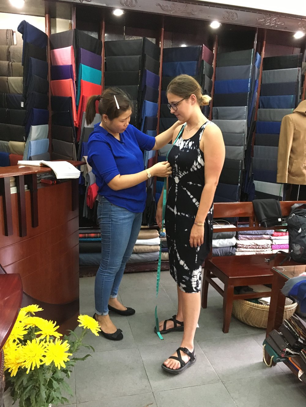 getting measured for my dress in hoi an, vietnam - m.quigley