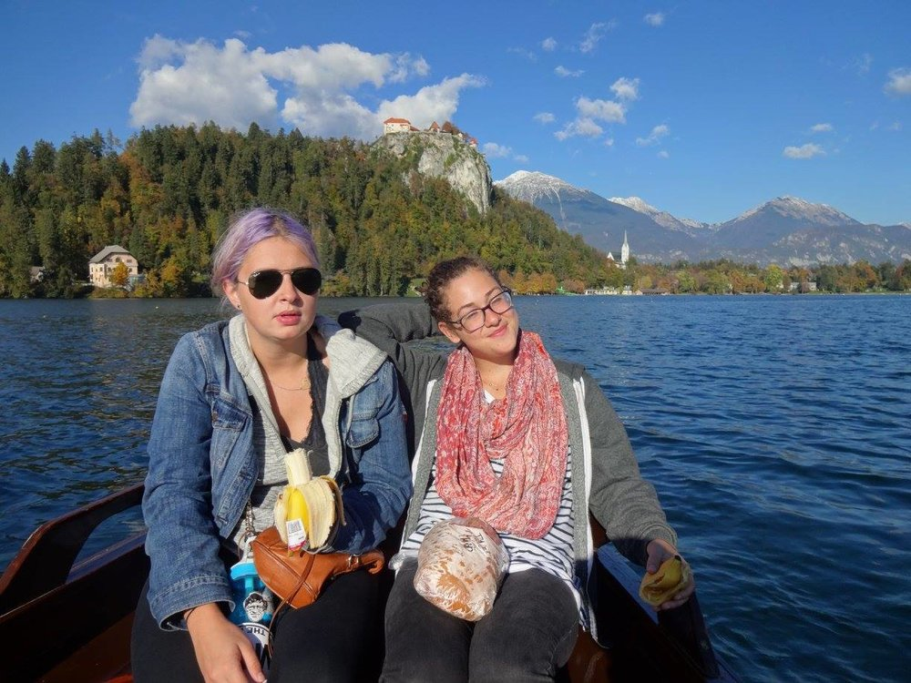 my purple hair... looking not so great (lake bled looks real good though)