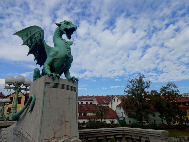 The dragon bridge in ljubljana, slovenia
