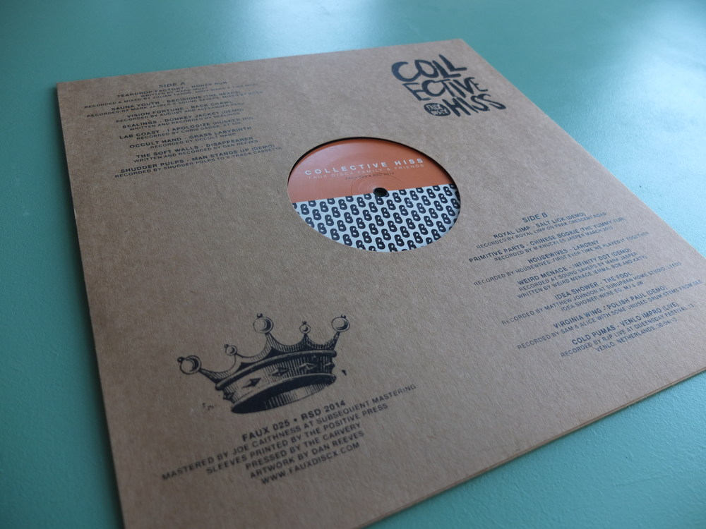 Collective Hiss Screen Printed Record Sleeves Faux Discx