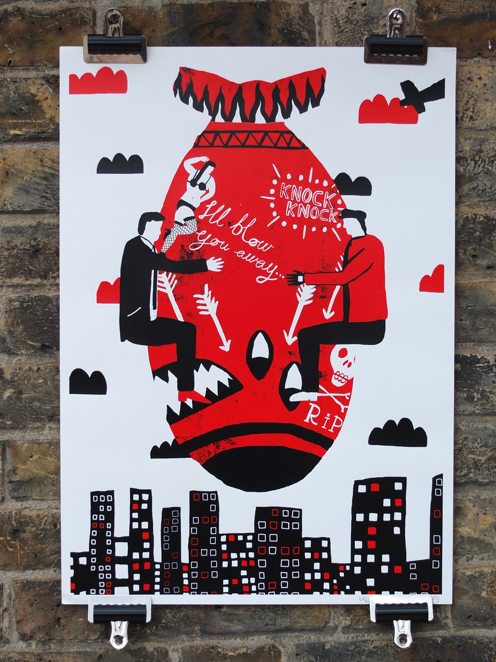 dam Corns Screen Printed Poster Screen Printing North London