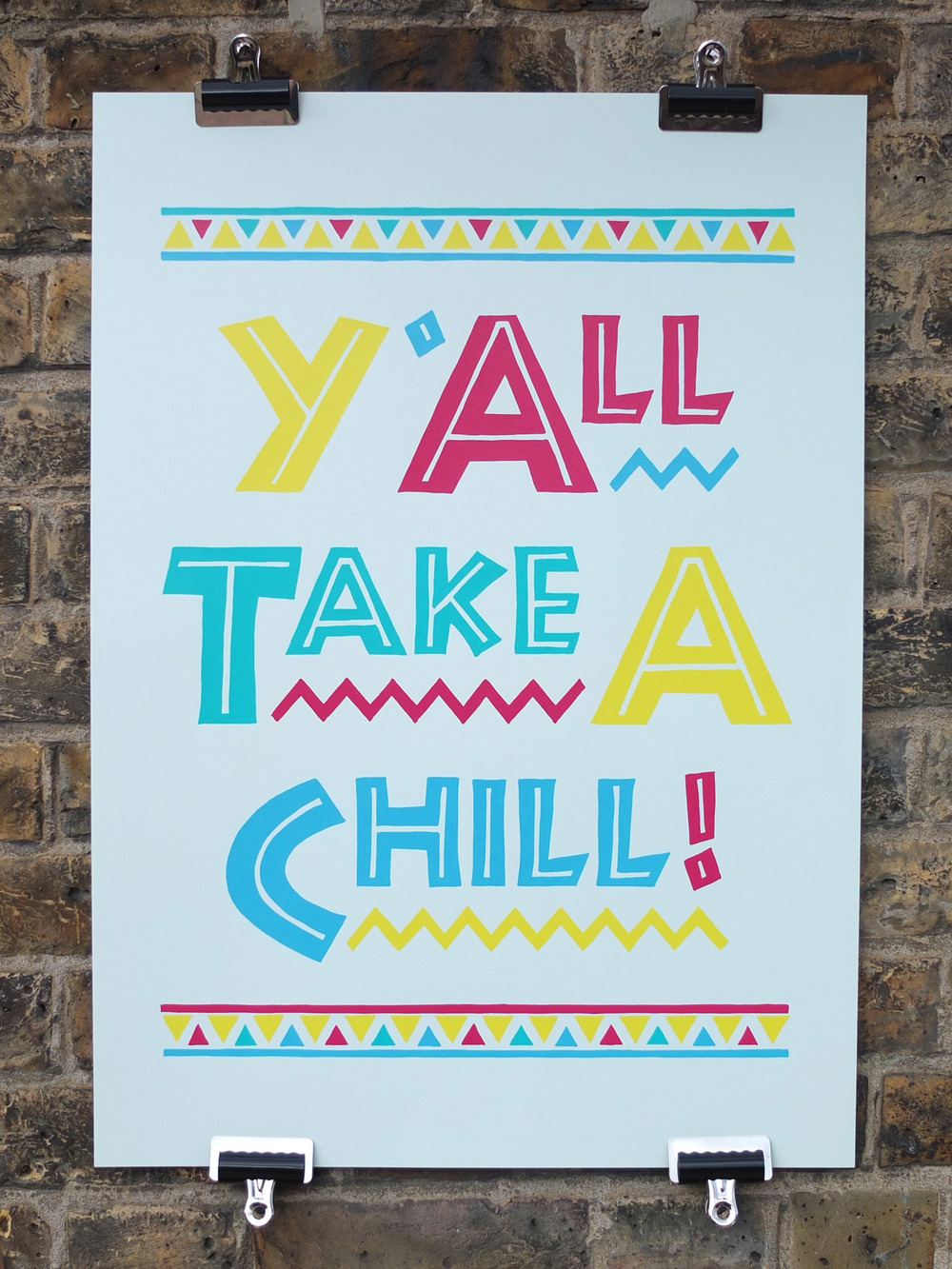 Rose Stallard Do The Right Thing Screen Printed Poster Somerset House FIlm 4 Summer Screenings Print Show