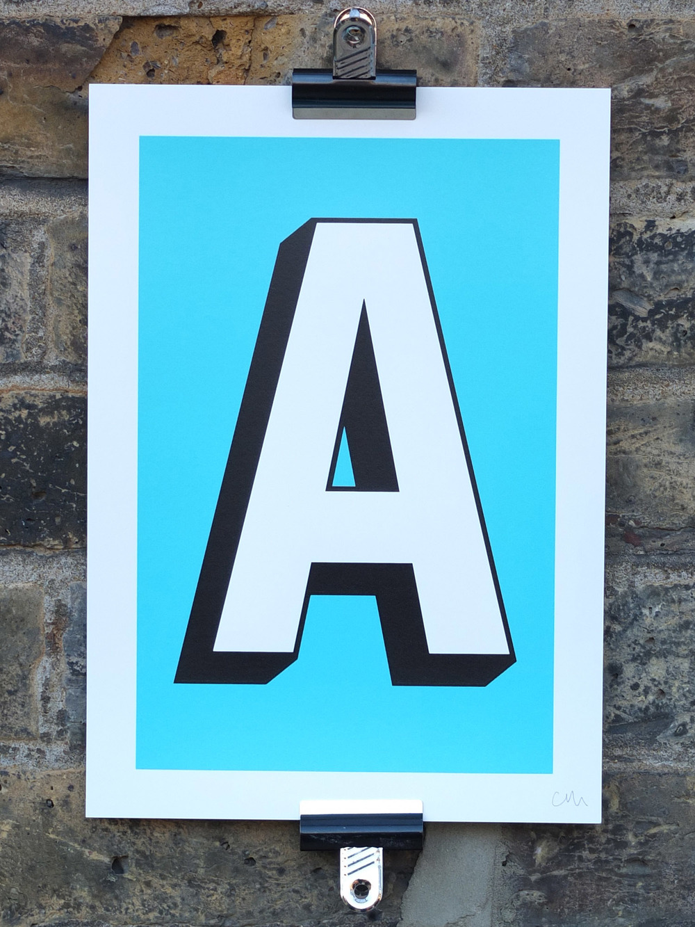 Alphabet screen prints typography typographic print screen printing