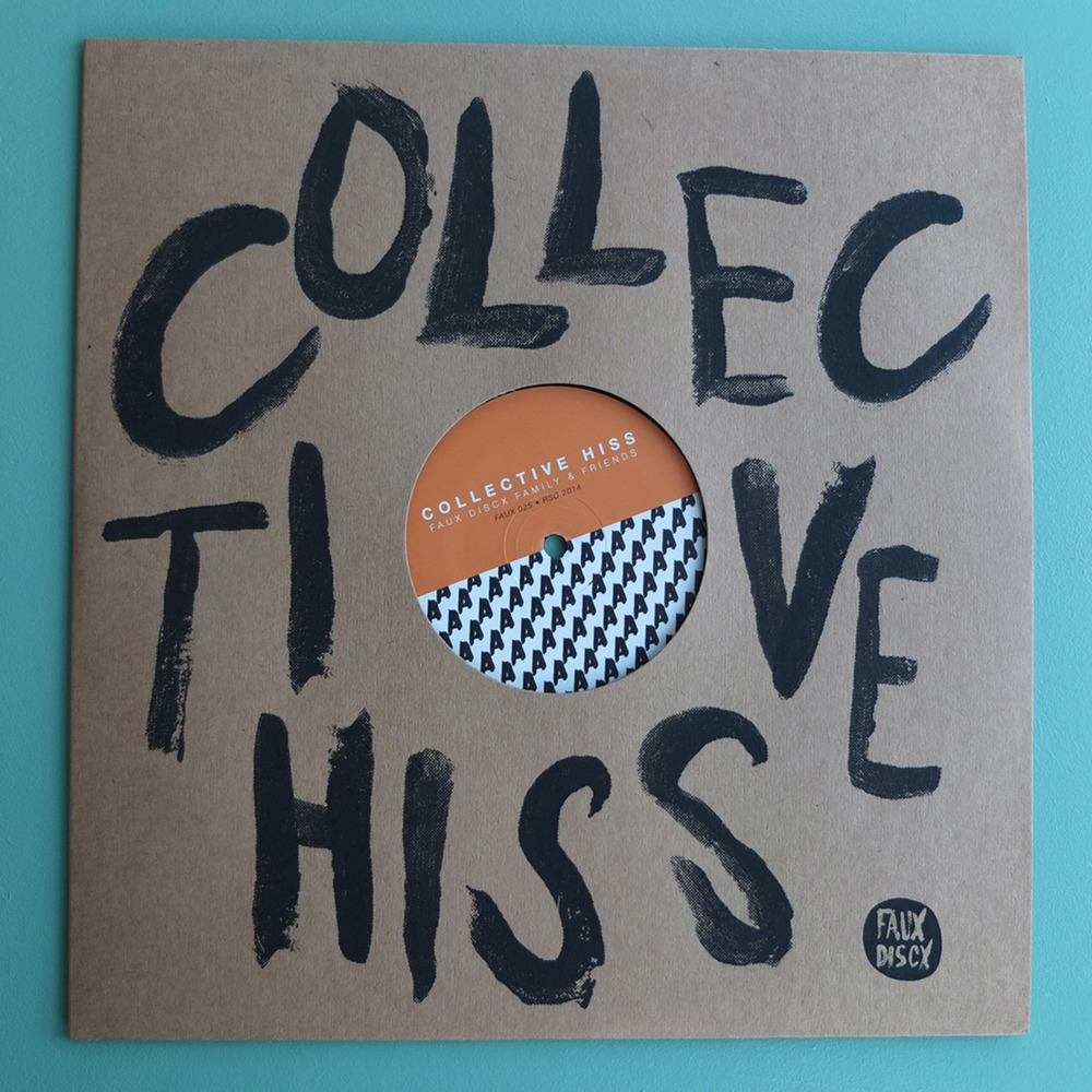 Collective Hiss Screen Printed Record Sleeves Faux Discx Screen Printing North London