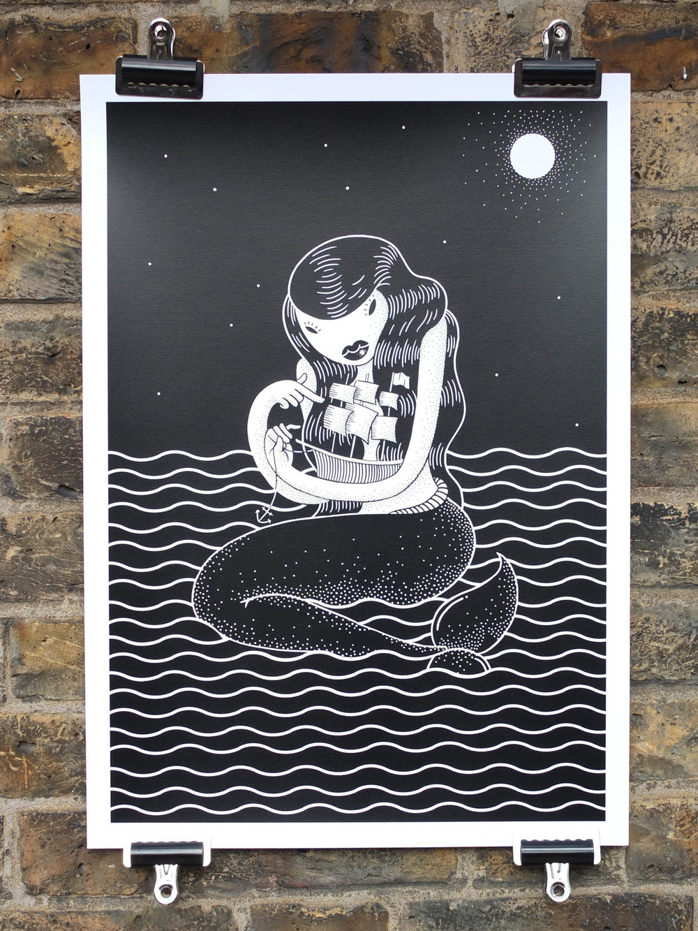 Marylou Faure Screen Printed Poster The Positive Press Screen Printing North London