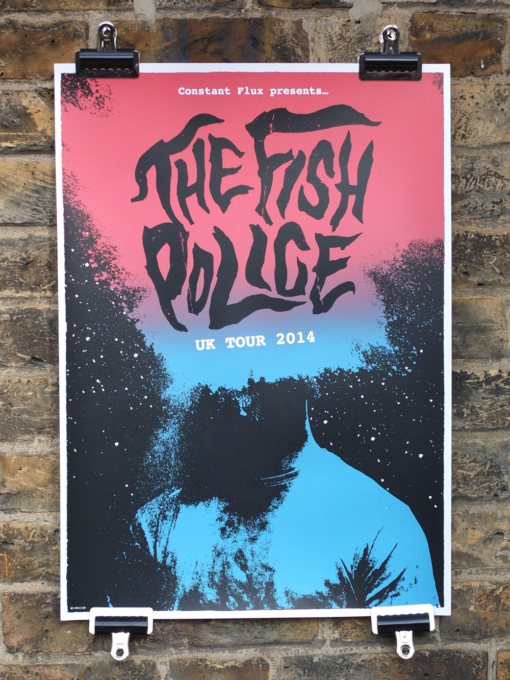 The Fish Police Screen Printed Gig Poster Screen Printing London