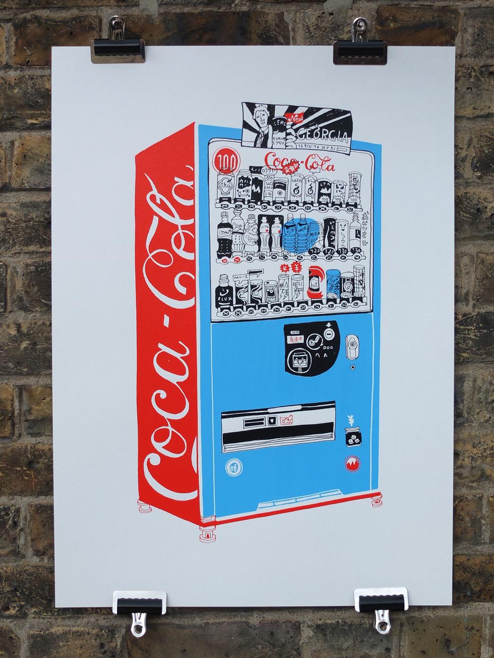 Hennie Haworth Vending Machine Screen Print
