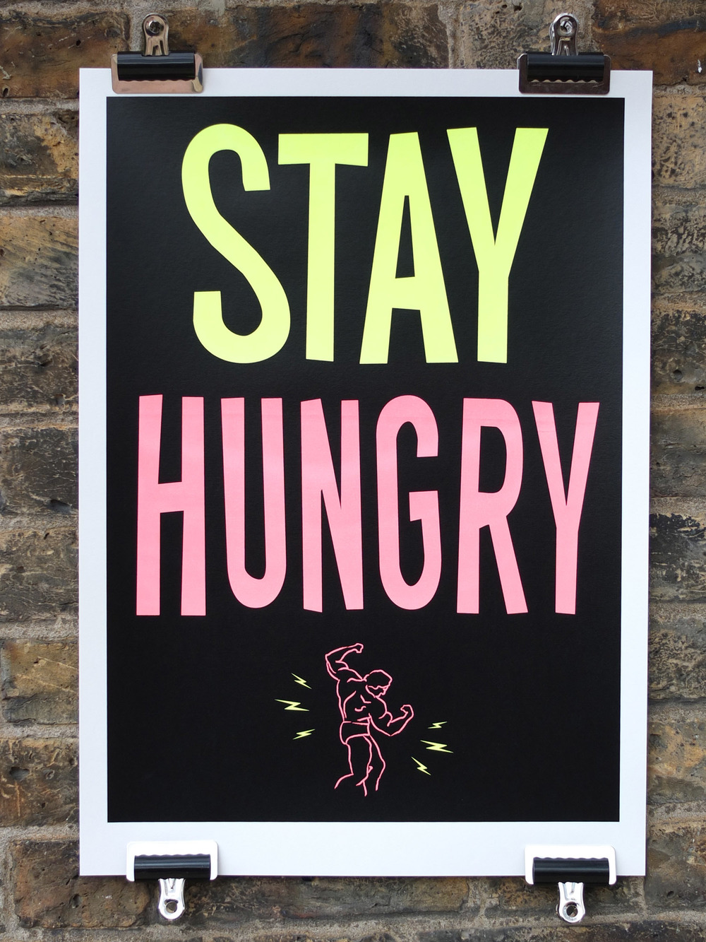 stay-hungry-screen-printed-poster