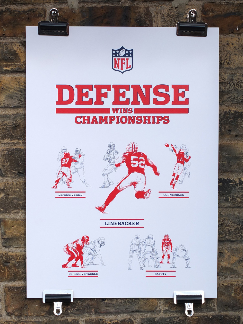NFL Screen Printed Poster