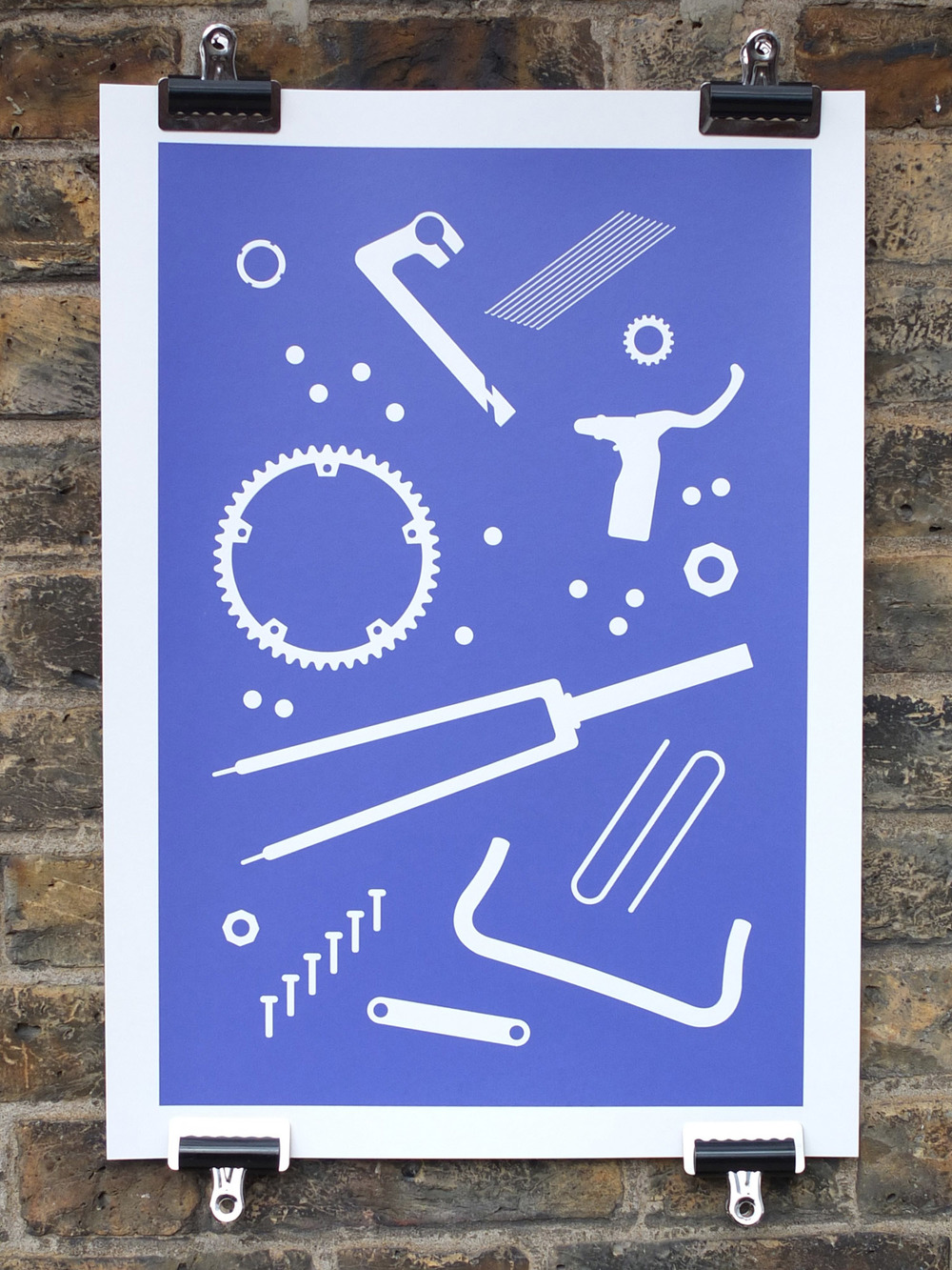 Rory Cahill Screen Print Bicycle Art Print