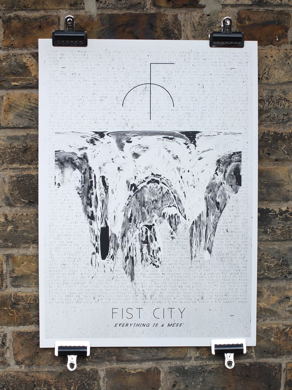 Fist City Screen Printed Tour Poster