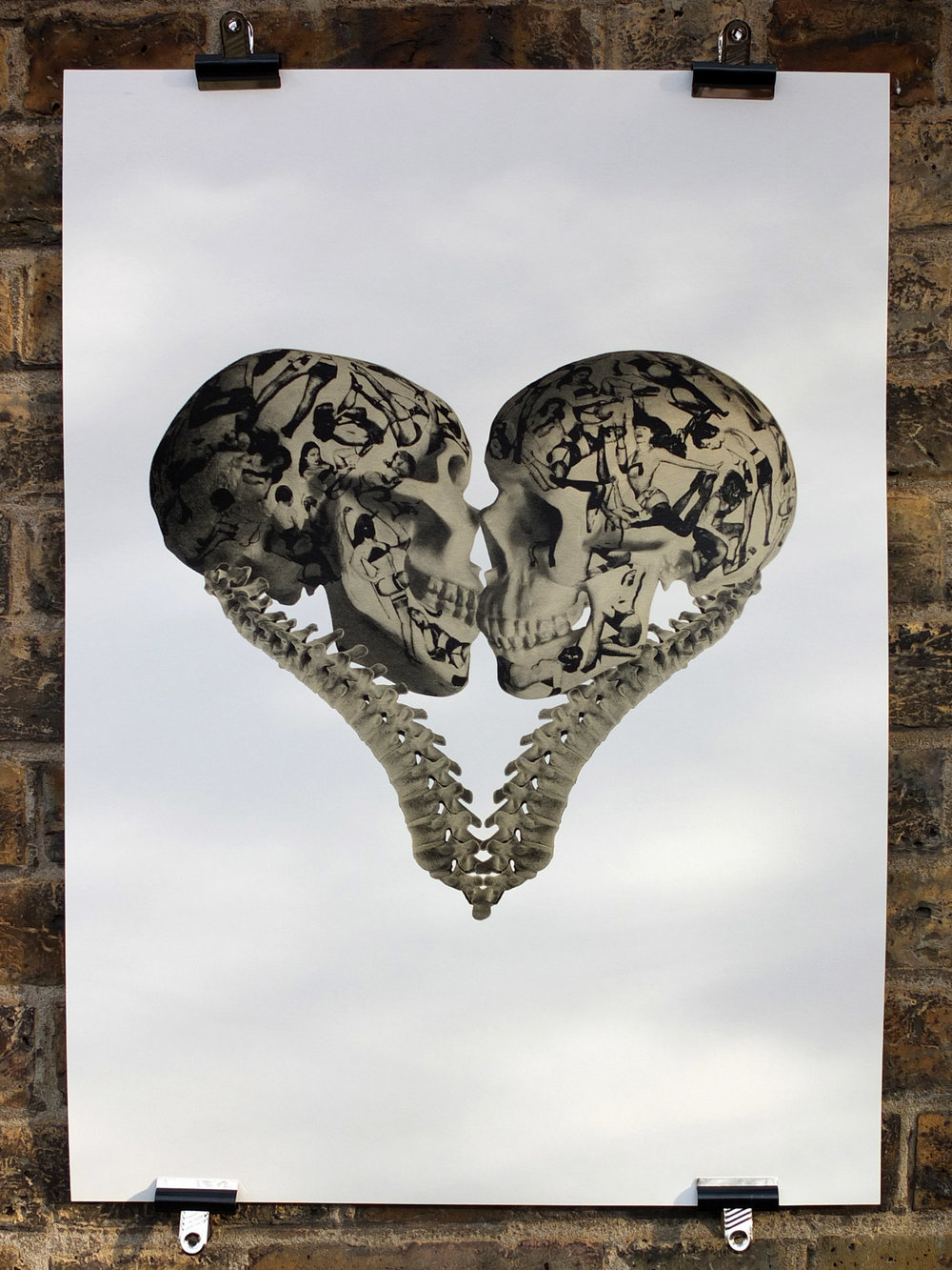 cassandra yap lovers kiss waterbased screen printing london