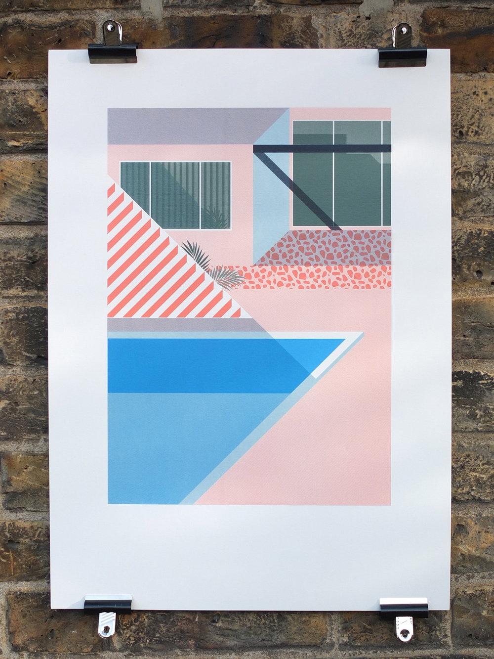 Josh McKenna Hello Mr Hockney Screen Print