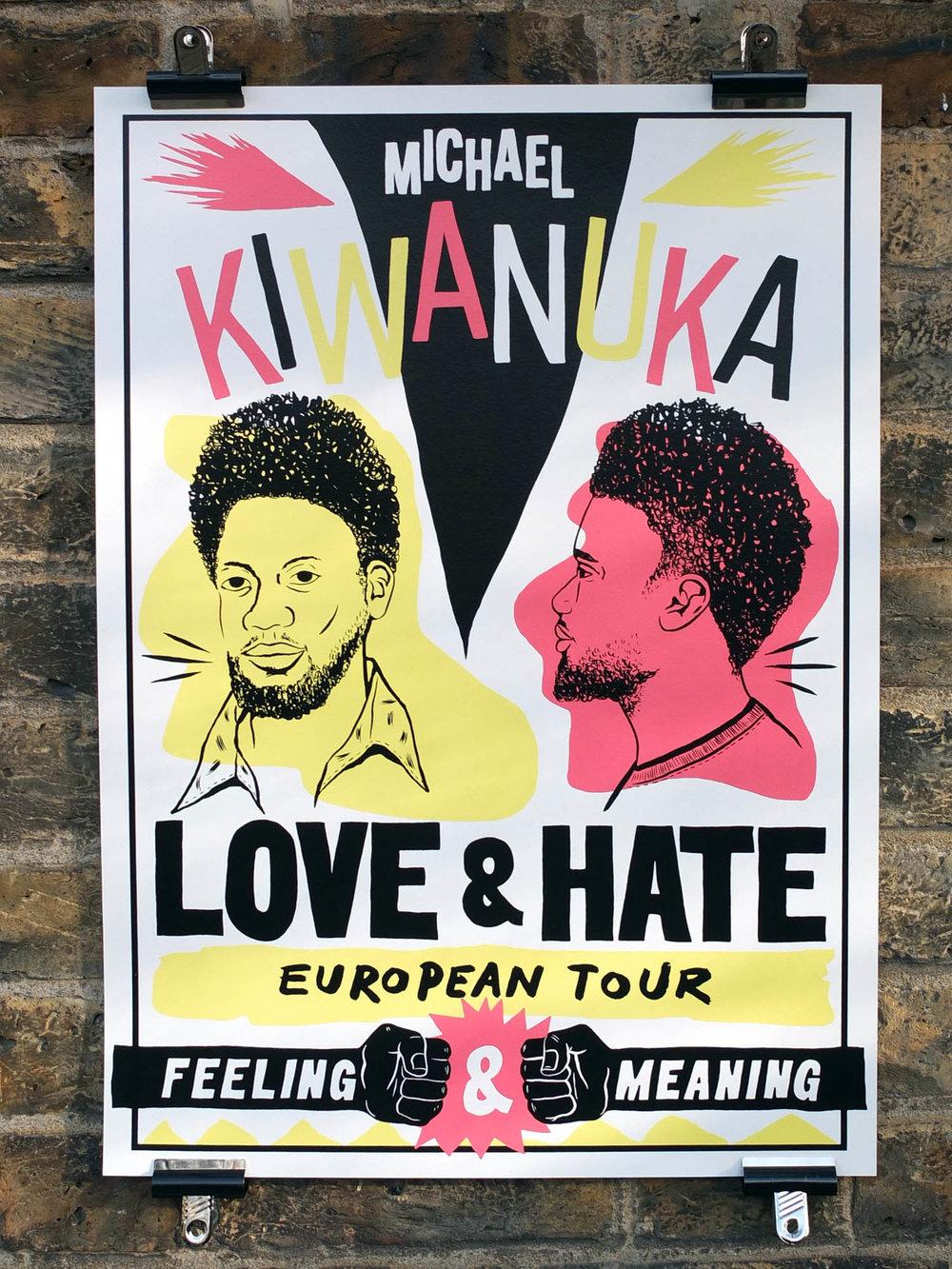 Michael Kiwanuka Stevie Gee Screen Printed Tour Poster