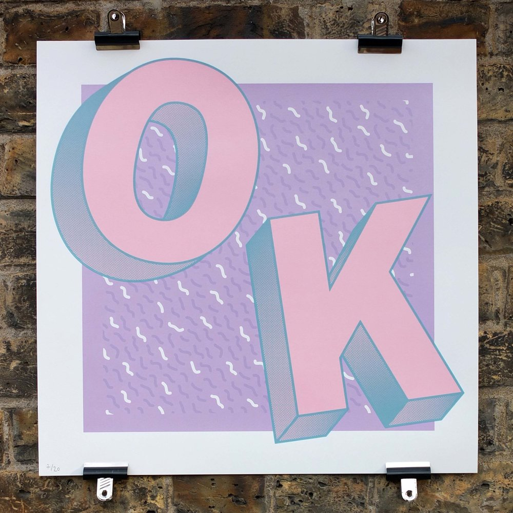 OK Screen Print The Positive Press Water Based Screen Printing Service London