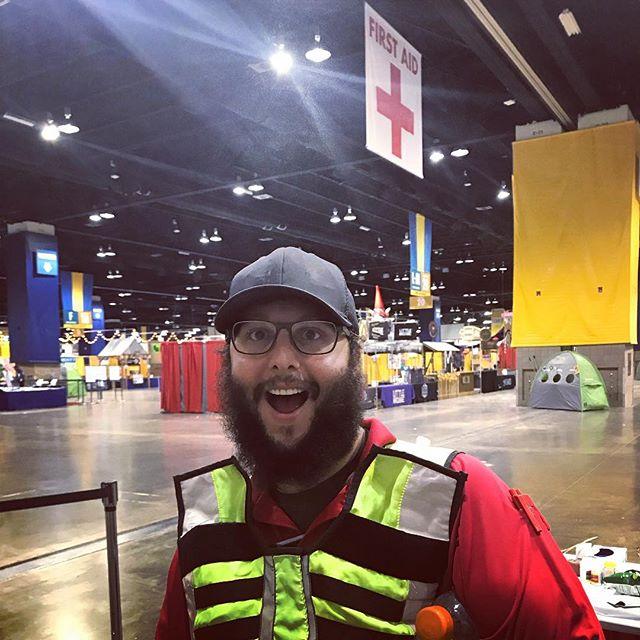 Dapper Dan was working real hard @greatamericanbeerfestival this year! . . . . #greatamericanbeerfestival #hardworker #dapperdan #stadiummedical #bestplacetowork #eventmedical #emslife #paramedic #emt #specialevents