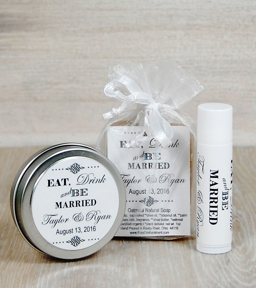 Eat Drink & Be Married Personalized Hand Lotion Bar — Pure Enchantment