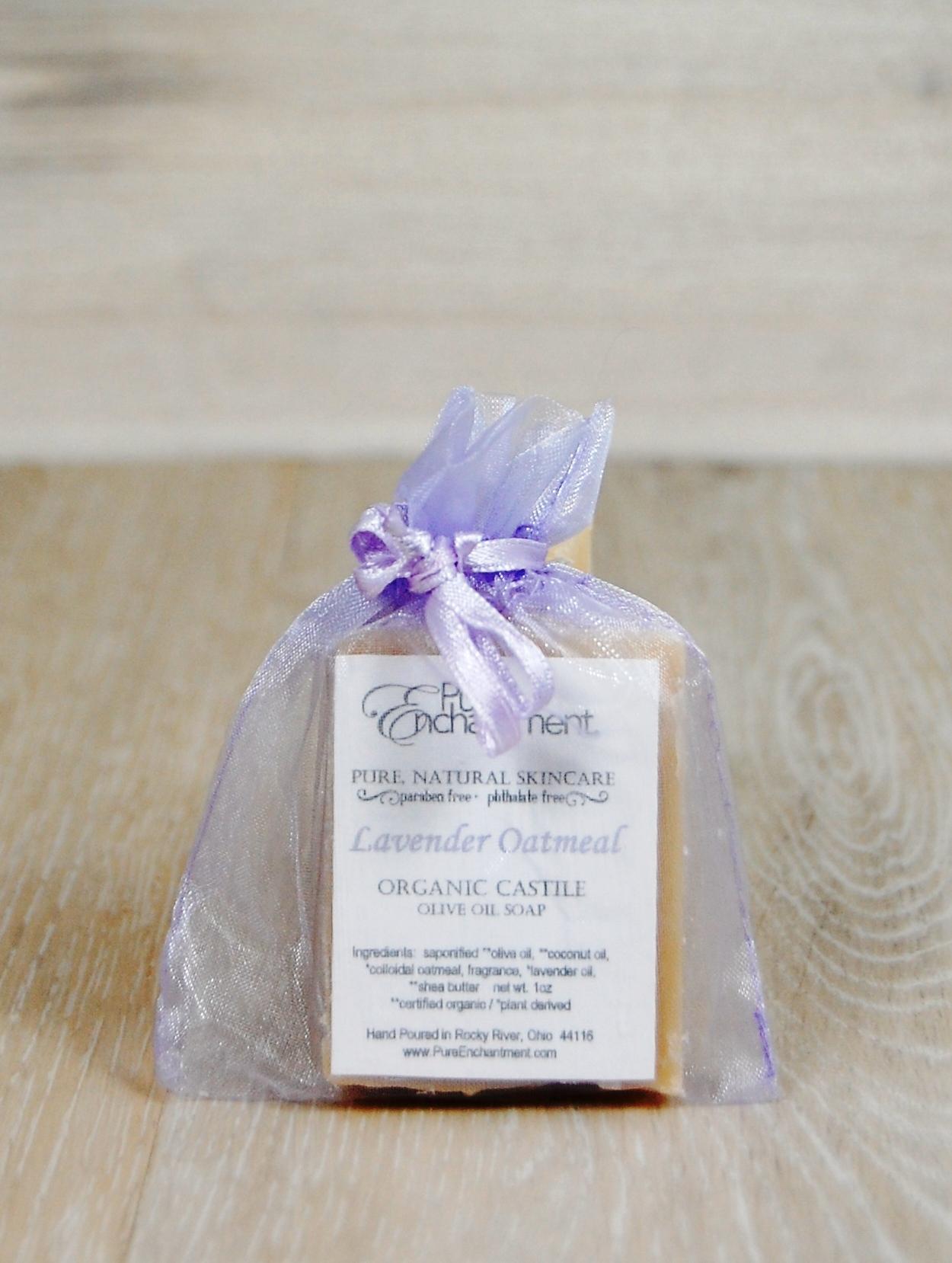 Lavender Oatmeal Mini Natural Soaps — Pure Enchantment