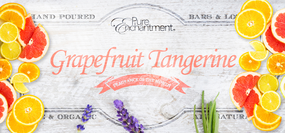 A clean, refreshing blend of pink grapefruit, white grapefruit, tangerine and a touch of lavender.